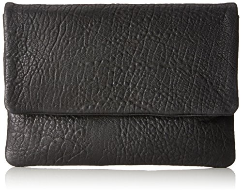 SELECTED FEMME Damen Sfcarly Leather Clutch, Schwarz (Black), One Size