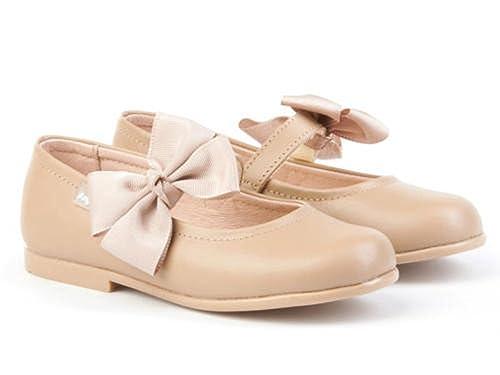 3fb602e44ef Merceditas combinadas de charol Color Camel para Niña. Marca AngelitoS.  Modelo 1508. Calzado infantil hecho en España. Número 34  Amazon.es  Zapatos  y ...
