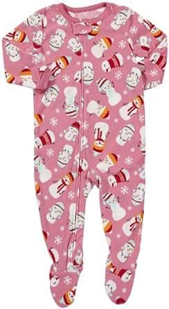 Carter's Girls 1-piece Micro-fleece Pajamas (2T, Snowmen)