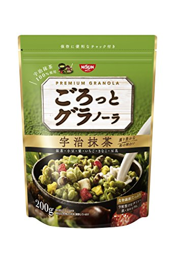 Nisshin - Chunky Japanese Granola with Kyoto Uji Matcha Green tea Flavor 200g (7.05oz) : Japan Imported [Standard ship by SAL with Tracking number & Insurance]