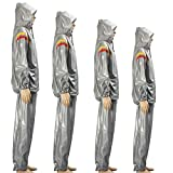 Sports Fitness Sauna Suit Hoodie Exercise Gym Hooded Clothing Weight Loss Slim S ( XXL )