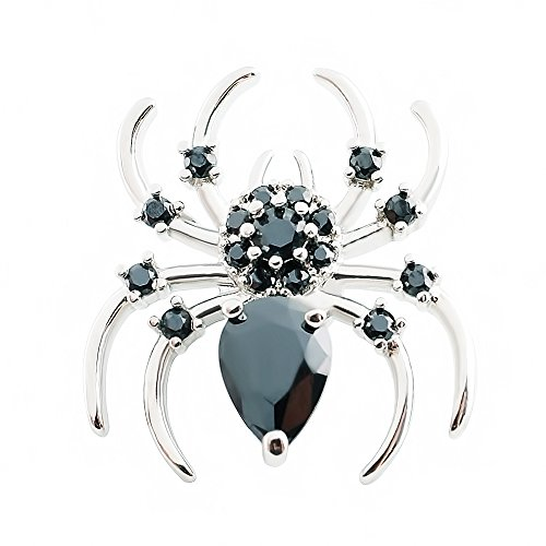 Lovmoment Snap 20MM Spider Snap Button Silver Plated with zircon Snap Jewelry