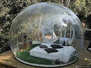 Outdoor Single Tunnel Inflatable Bubble Tent Family C&ing Backyard Transparent by Bubble Tents & Outdoor Single Tunnel Inflatable Bubble Tent Family Camping ...