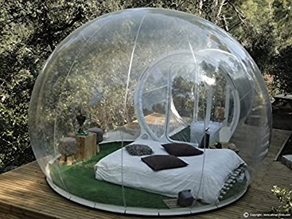 Outdoor Single Tunnel Inflatable Bubble Tent Family C&ing Backyard Transparent & Amazon.com: Outdoor Single Tunnel Inflatable Bubble Tent Family ...