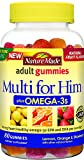 gummy vitamins with omega 3 - Nature Made Multi for Him + Omega-3 Adult Gummies w. 60 mg of EPA and DHA Omega 3 Value Size 80 Ct