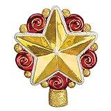 Old World Christmas Swirly Star Tree Top Glass Blown Ornament