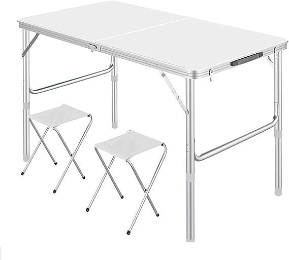 Altura ajustable de la mesa plegable, mesa de picnic portátil de ...
