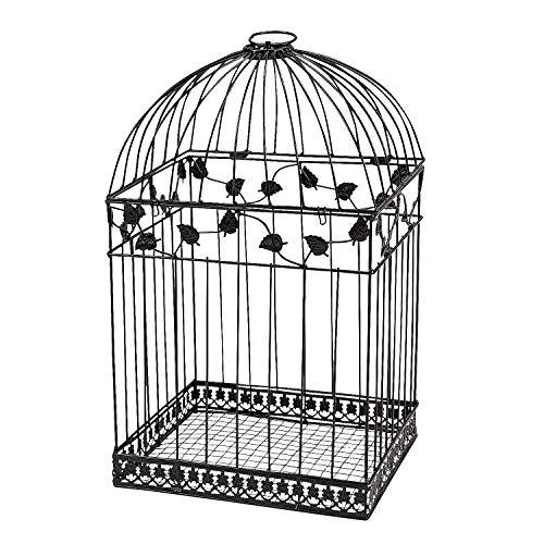 Black Metal Wedding Bird Cage Card Holder Beautiful Wedding Reception Piece!! (Limited Edition) (Party Favor Bird Cages)