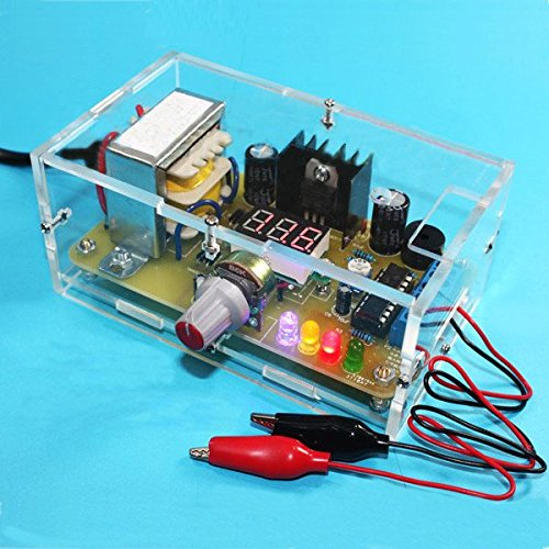 Diy electronic kits amazon generic us plug 110v diy lm317 adjustable voltage power supply board kit with case solutioingenieria Image collections