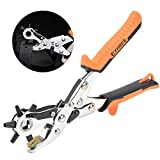 TOOLTOO Leather Hole Punch Round Holes Punch Professional Best Puncher for Belt, Saddle, Watch Strap and Shoe