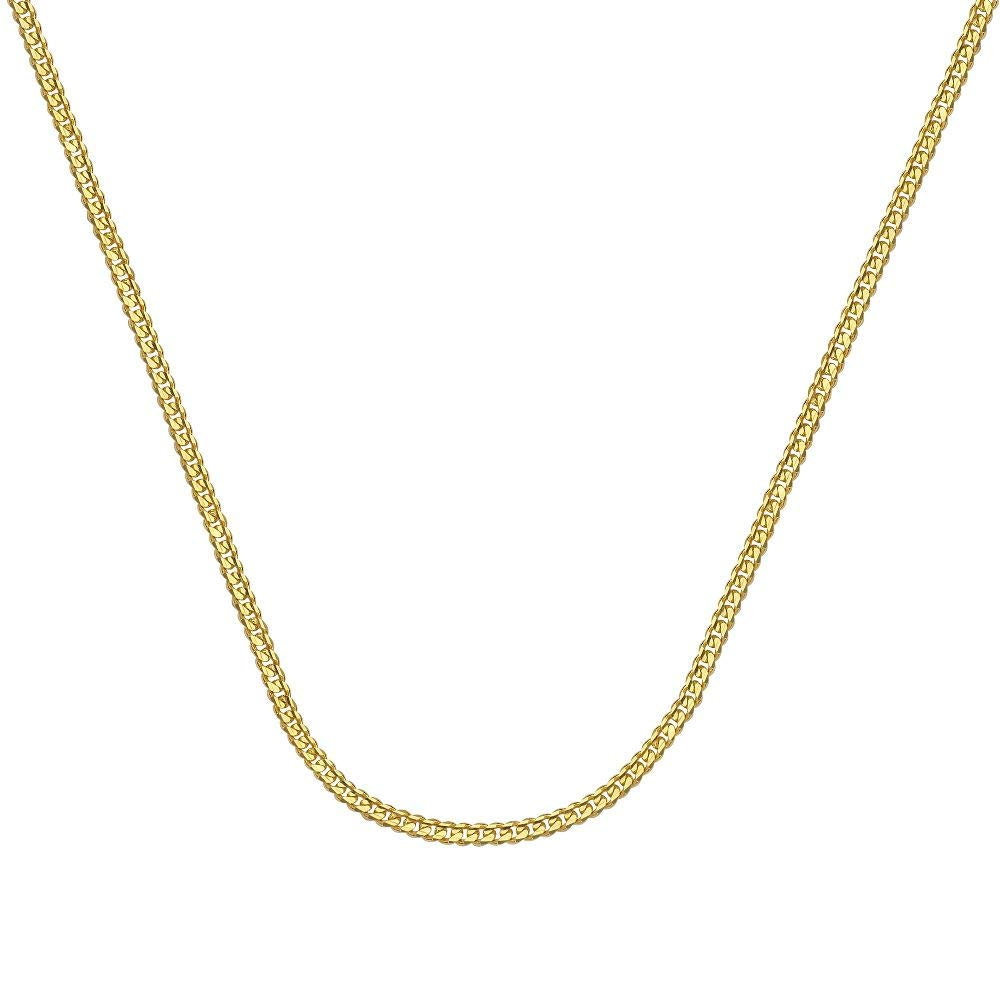 14kt Yellow Gold Light Curb Chain Necklace 1.04mm