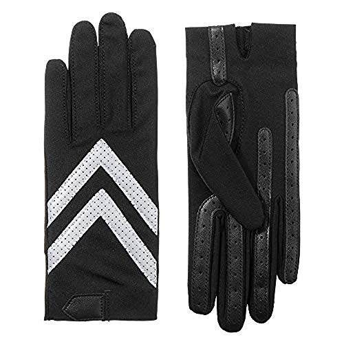 (ISOTONER Spandex Shortie Gloves (Unlined) - A30101 (Black Reflective, L/XL) )