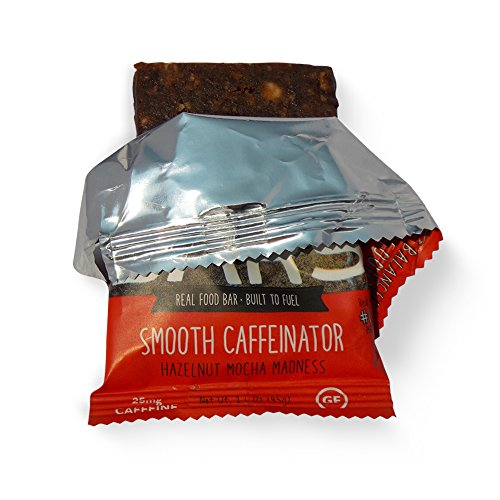 Picky Bars Smooth Caffeinator: All Natural Gluten Free Vegan Protein Energy Bar (1 box = 10 bars)