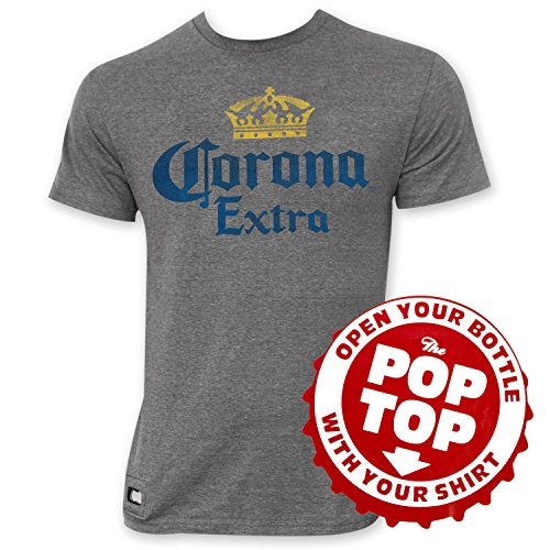 corona-extra-faded-grey-crown-logo-pop-top-tee-shirt-x-large-gray