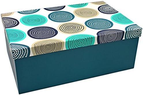 Heku Caja de Regalo ~ círculos patrón Ornamente turquesa azul ...