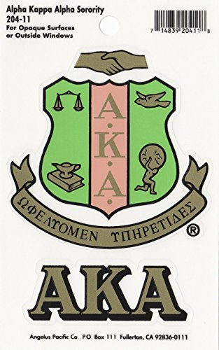 (Alpha Kappa Alpha Sorority Crest Sticker)