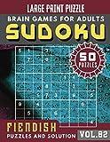 Fiendish Sudoku Large Print: sudoku extremely