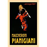 "Pierrot Spaghetti Pasta Maccheroni Pianigiani Italy Italia Italian Food Vintage Poster Repro 20"" X 30"" Image Size. We Have Other Sizes Available!"