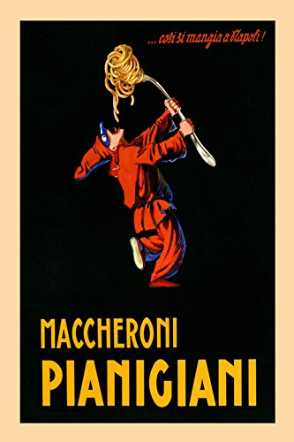 Pierrot Spaghetti Pasta Maccheroni Pianigiani Italy Italia Italian Food Vintage Poster Repro 20quot X 30quot
