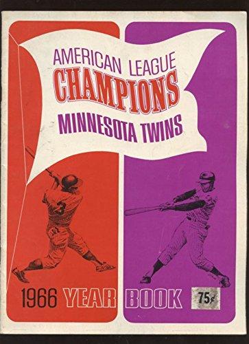 1966 Minnesota Twins Baseball Yearbook - Minnesota 1966 Twins