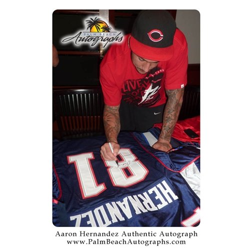 Aaron Hernandez Autographed Jersey - Autographed NFL Jerseys at Amazon s  Sports Collectibles Store 2250856c8