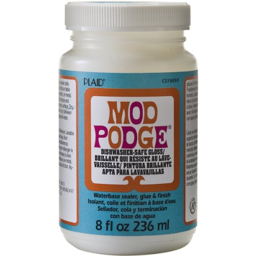 Mod Podge Dishwasher Safe Waterbased Sealer, Glue and Finish (8-Ounce), CS15059 Gloss