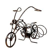 ZLSY Creative Wine Rack Furnishing Articles, Motorbike Wrought Iron Wine Bottle Holder, European-style Goblet Glass Hanging Holder