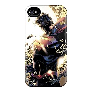 Perfect Hard Phone Cover For Iphone 4/4s (ptn2259cgak) Allow Personal Design High-definition Man Of Steel Superman Skin