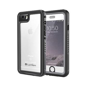 Lanhiem Funda Impermeable iPhone 6 / 6s, Carcasa Sumergible Resistente Al Agua IP68 [Protección de 360 Grados], Carcasa para iPhone 6 y 6s con ...