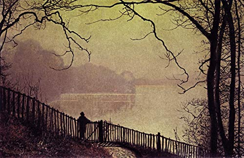 - John Atkinson Grimshaw Figure Overlooking Waterloo Lake, Rounday Park, Leeds 1872 Private Collection 30