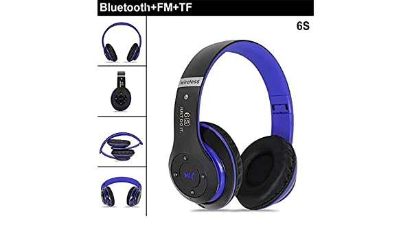 Amazon.com: Ruixunte Bluetooth 4.0 Headphones Wireless Heavy Bass Stereo Folding Auriculares Mic Support TF SD Card: Home Audio & Theater