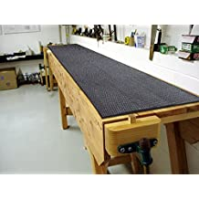 """Just Suk It Up™ Absorbent Work Bench Mat with Border and Grid, Grey, 22 x 84"""""""