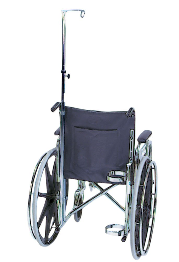 IV Pole for Wheelchair, 47 to 85 inch