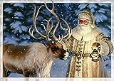 Performing Arts Velvet Touch Finish, Full Color Inside Santa Reindeer Stationery Paper (05230-16)