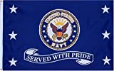 Navy Served With Pride MILITARY Flag - 3 foot by 5 foot Polyester (NEW), Model: , Spoorting Goods Shop