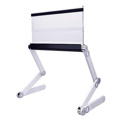 Aluminio plegable Soporte para portátil,Altura y ángulo ajustado libremente, Portátil ergonómico cojín de