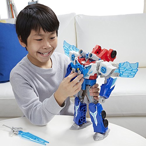 Transformers Robots in Disguise Power Surge Optimus Prime and Aerobolt 11 inch