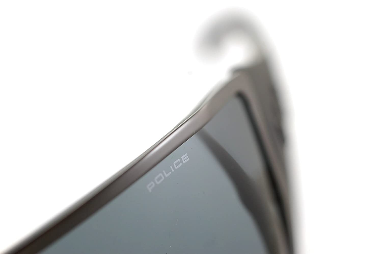 df28be80cdc POLICE S8826 0568 Mens   Womens WRAPAROUND VISOR Sunglasses GUNMETAL MATTE  BLACK GREY  Police  Amazon.co.uk  Clothing
