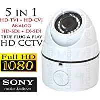 USG Sony Starvis DSP 2MP 1080P Dome Security Camera : With Deep Base : 2.8mm Wide Angle Lens : 18x Square IR LEDs : Business Grade : 5-in-1 CCTV Format HD-SDI, EX-SDI, HD-TVI, HD-CVI + Analog