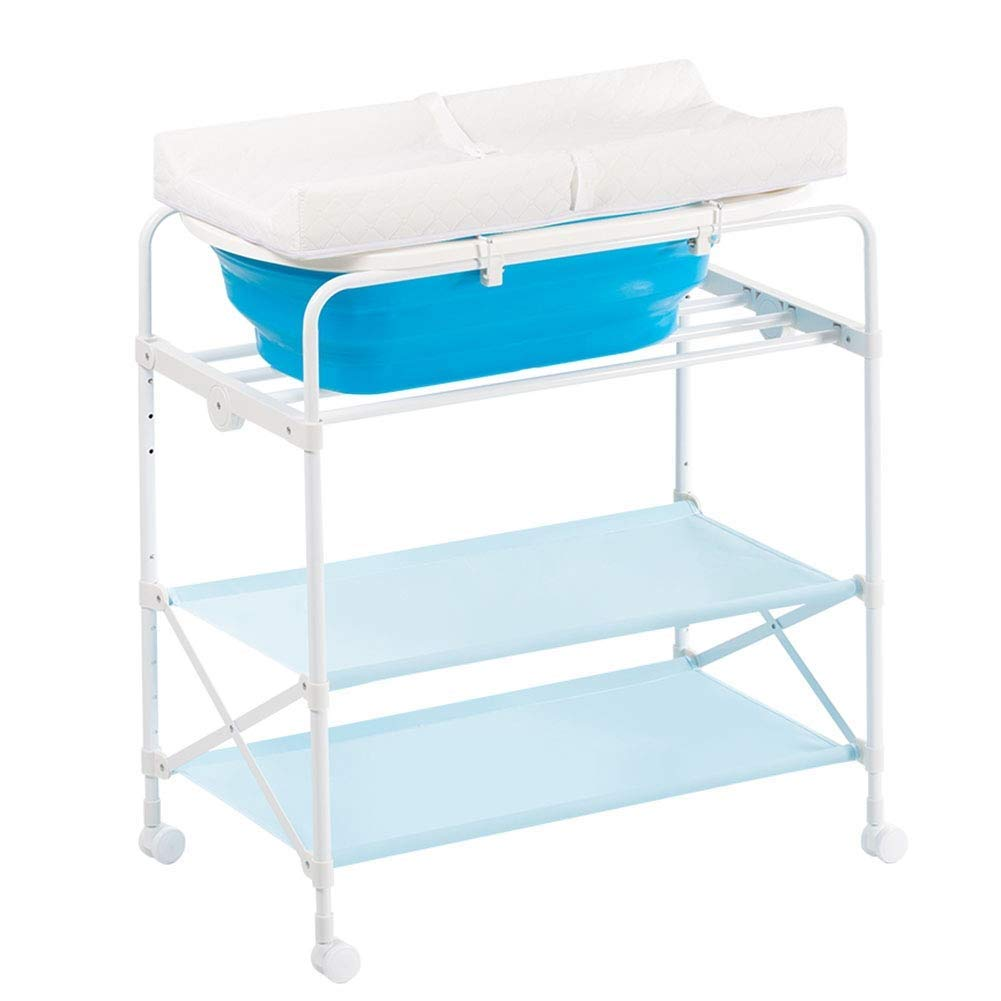 Portable Collapsible Baby Shower, Multi-Function Changing Clothes, Neonatal Bed Baby Changing Table