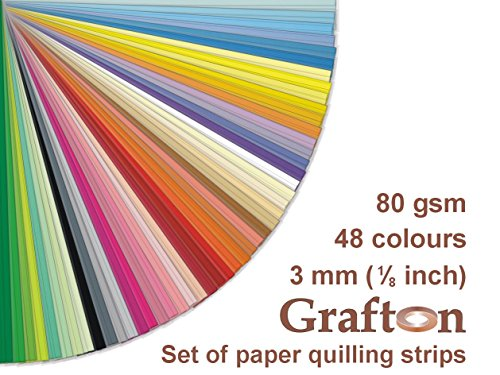 48 Colors x 100 Strips per Break down, 4800 Paper Quilling Strips Supplies Set Kit, 3 mm (1/8 Inch) Wide, 297 mm (11,5 Inch) Sustained, 80 gsm, Solid Colors, DIY PaperCraft, ZE PS3