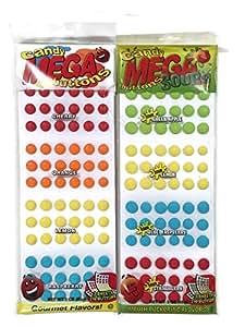 Candy Buttons, Original & Sour Mega Buttons, 3 oz. Packages [1 of each]
