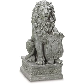 Gifts U0026 Decor Lion Guardian Crested Shield Home Garden Decor Statue