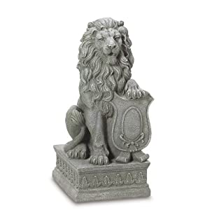 Gifts Decor Lion Guardian Crested Shield Home Garden Decor Statue