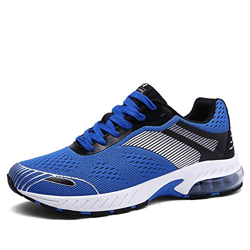Ahico Running Shoes Women - Air Cushion Womens Tennis Shoe Lightweight Fashion Walking Sneakers Breathable Athletic Training Sport Black Size 6.5