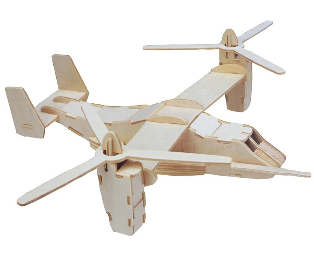 Kaden G-P 3D Model Plane/ aircraft /airplane Puzzle Jigsaw Woodcraft DIY Assembly Educational Products Wooden Art jigsaw toys for children diy handmade wooden Construction puzzle (271Bomberplane)