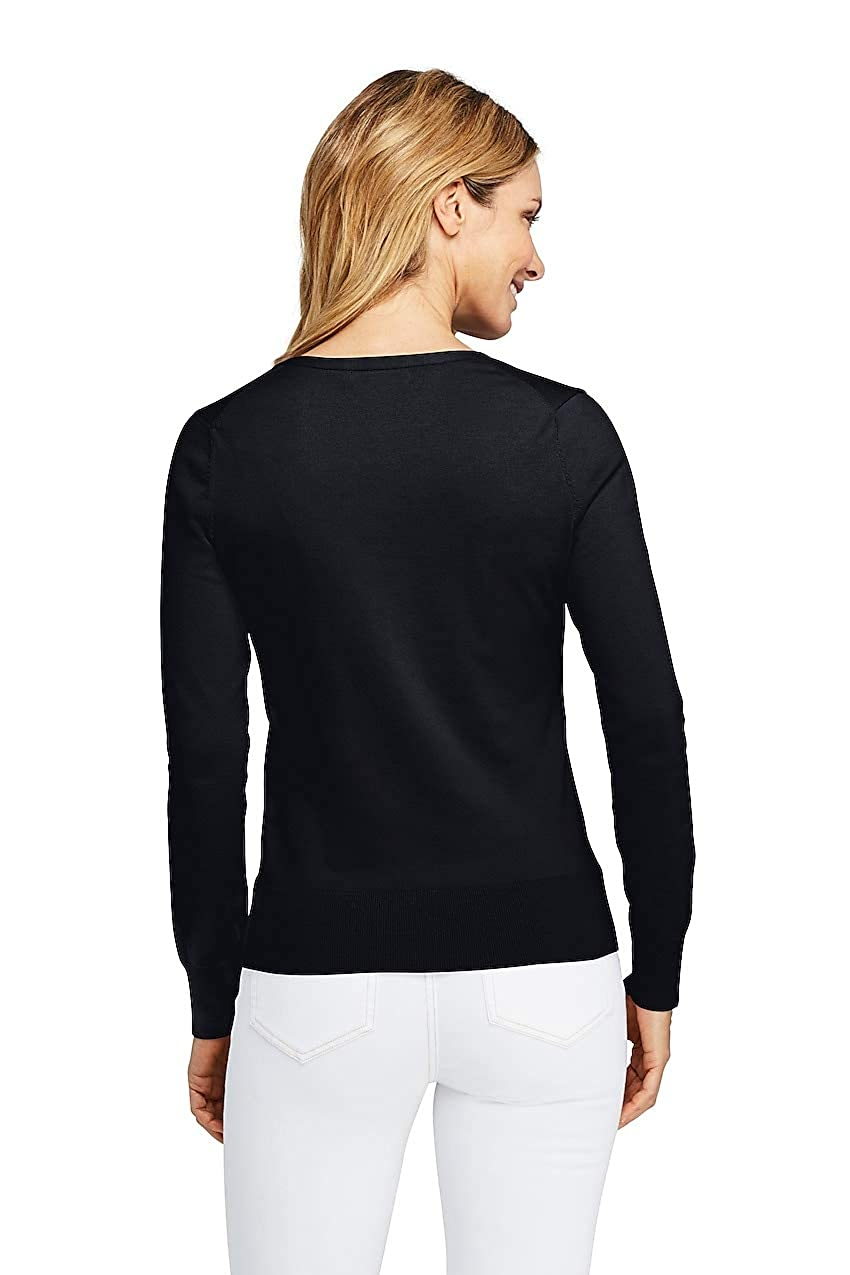 0164ac1a6f30 Lands' End Women's Petite Supima Cardigan Sweater at Amazon Women's  Clothing store: