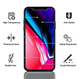iPhone X Screen Protector, cresawis [Tempered Glass] Ultra Slim HD Clear 9H Anti-Scratch Film for Apple iPhone X (2017) [Case Friendly] - [3 PACK]