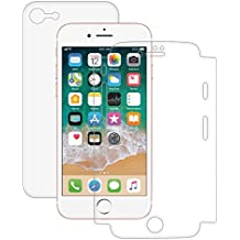 AMZER Shatterproof Full Body Coverage Screen Guard Scratch Shock Shatter Drop Protector Shield Screen Protector for Apple iPhone 8 - HD Clear Shockproof