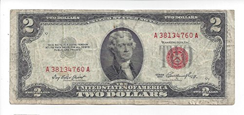 1953 2 Dollar Legal Tender Note (Dollar Note)